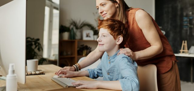 mother-and-son-online-education