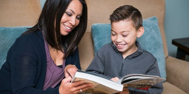 mother-and-son-reading